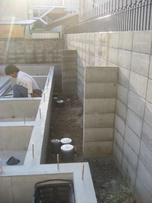 4月13日 水道・基礎・木工事