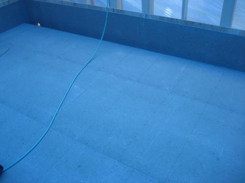 ベランダ防水下地センチュリーボード貼り工事