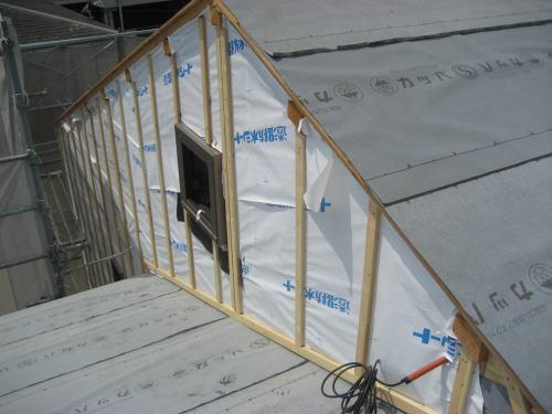外壁通気胴縁下地工事