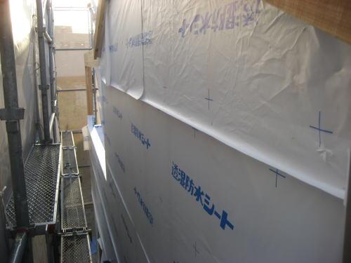 外部防水シート(胴縁上から)