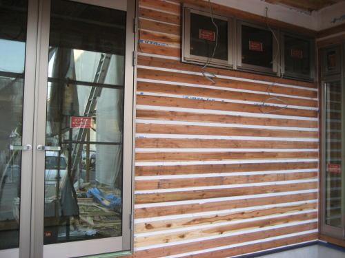外部外壁ラス板貼り工事(南面)