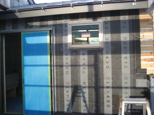 外壁アスファルトフェルト及びメタルラス張り工事