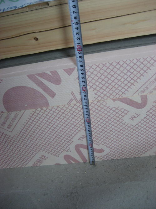 床暖房パネル敷きこみ