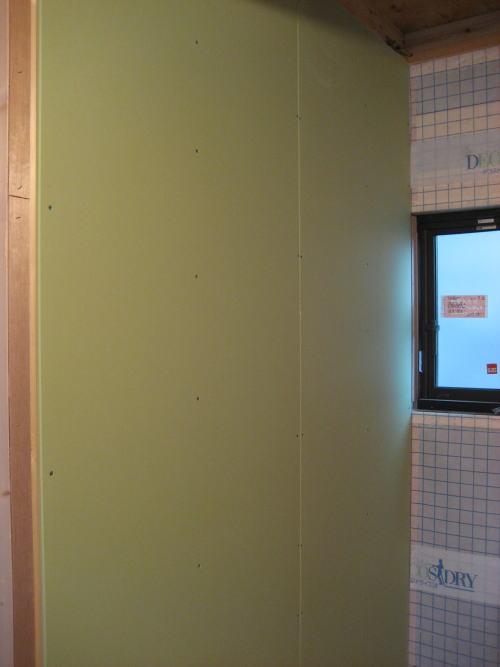 2F壁ボード貼り工事