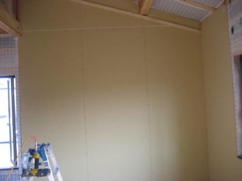 2F壁ボード貼り工事(子供室)