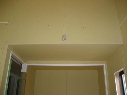 子供室天井ボード貼り工事