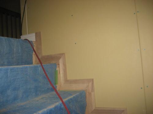 階段巾木取り付け工事