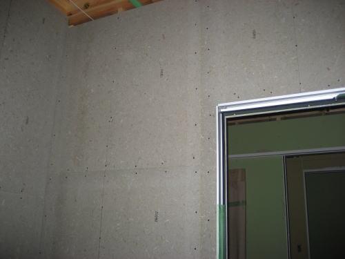 浴室防水下地材(センチュリーボード)貼り