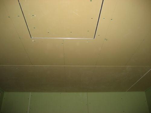 1F洗面所天井ボード貼り工事