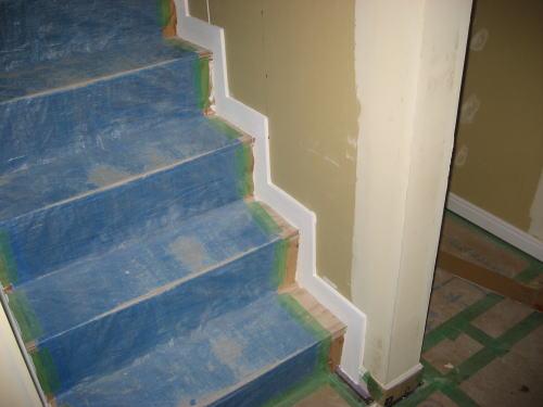 階段巾木塗装工事