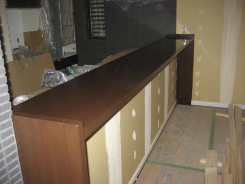 1Fカウンター仕上げ塗装工事