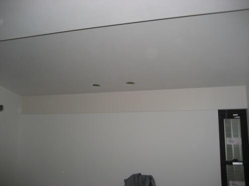 1F客間壁クロス貼り工事
